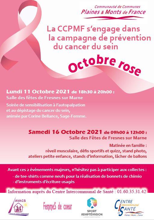 Octobre Rose à Fresnes-sur-Marne avec la CCPMF